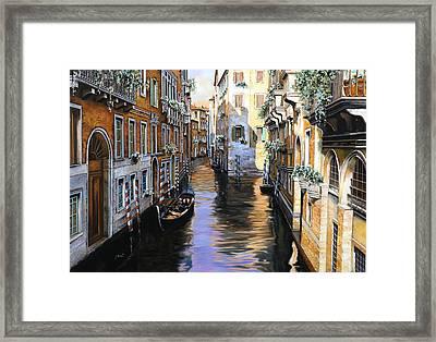 Tanta Luce A Venezia Framed Print by Guido Borelli