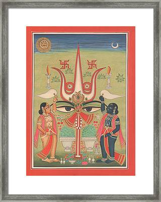 Tantra Tantrik Artwork Painting Hindu Mysterious Art Painting Artist  Framed Print by A K Mundhra