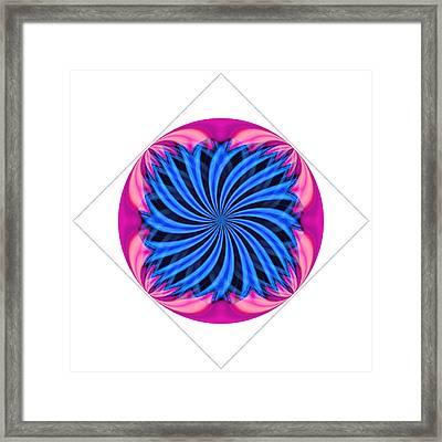 Tantric Flower Framed Print by Mateo Brigande