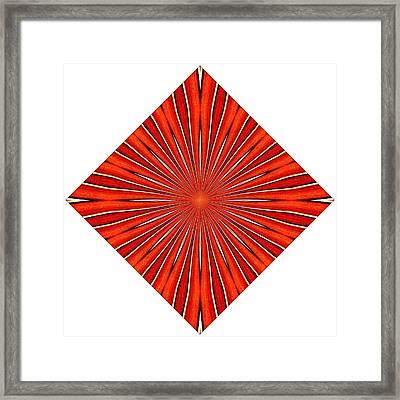 Tantric Orange Framed Print by Mateo Brigande