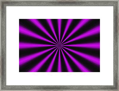 Tantric Purple Framed Print by Mateo Brigande