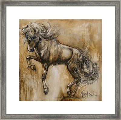 Tantrum Framed Print by Mary Leslie