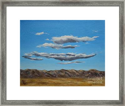 Taos Clouds Framed Print by Mary Rogers