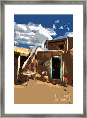Taos Pueblo Abstract Framed Print by K D Graves