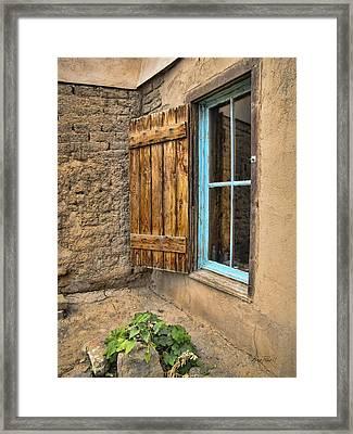 Taos Window Framed Print by Ann Powell