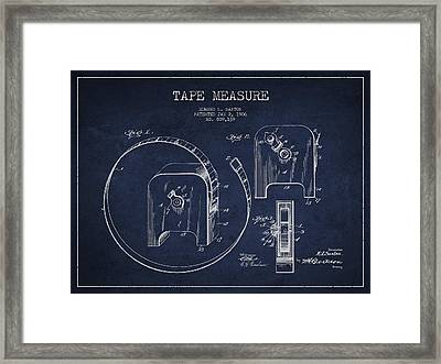 Tape Measure Patent Drawing From 1906 Framed Print by Aged Pixel
