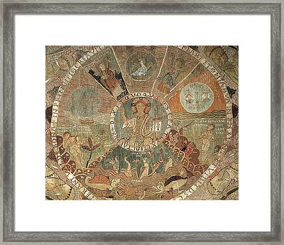 Tapestry Of Creation. 1st Half 12th C Framed Print by Everett