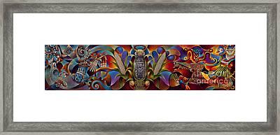 Tapestry Of Gods Framed Print by Ricardo Chavez-Mendez