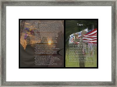 Taps And The Star Spangled Banner 2 Panel Framed Print by Thomas Woolworth