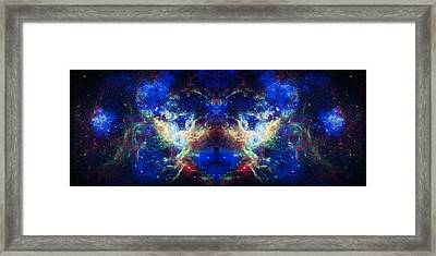 Tarantula Nebula Reflection Framed Print by The  Vault - Jennifer Rondinelli Reilly