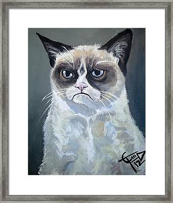 Tard - Grumpy Cat Framed Print by Tom Carlton