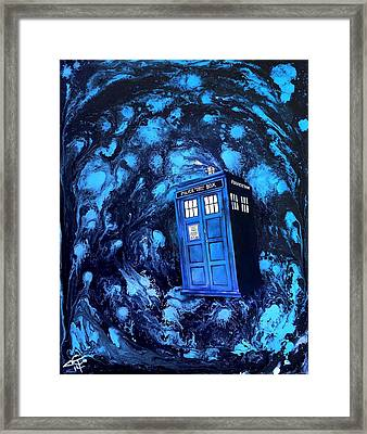 Tardis Framed Print by Tom Carlton