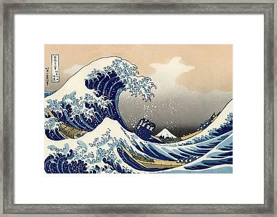 Tardis V Katsushika Hokusai Framed Print by GP Abrajano