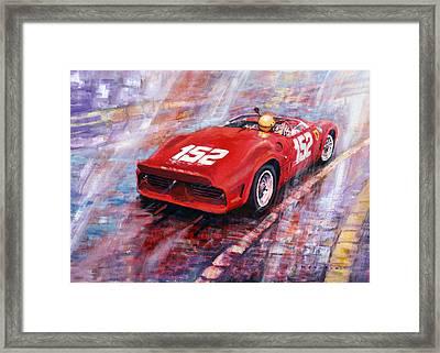 Targa Florio 1962 Ferrari Dino 246 Sp R Rodrigues  Framed Print by Yuriy Shevchuk