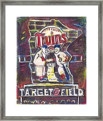 Target Field At Night Framed Print by Matt Gaudian