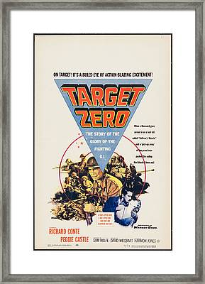 Target Zero, Us Poster, Richard Conte Framed Print by Everett