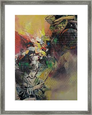 Tarot Card Abstract 005 Framed Print by Corporate Art Task Force