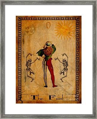 Tarot Card The Fool Framed Print by Cinema Photography