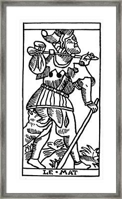 Tarot Card The Fool Framed Print by Granger