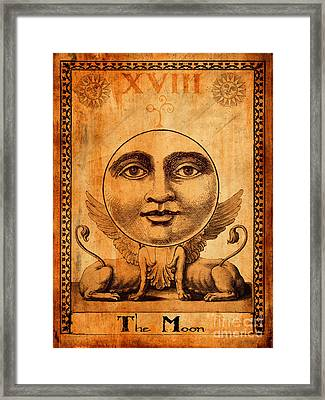 Tarot Card The Moon Framed Print by Cinema Photography