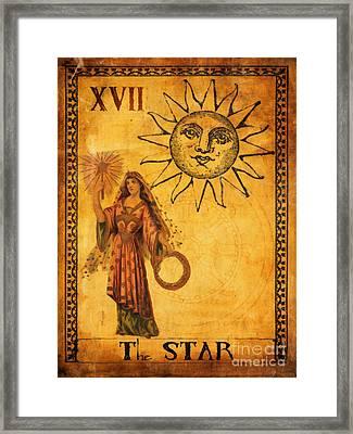 Tarot Card The Star Framed Print by Cinema Photography