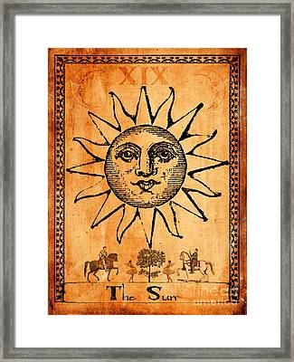 Tarot Card The Sun Framed Print by Cinema Photography