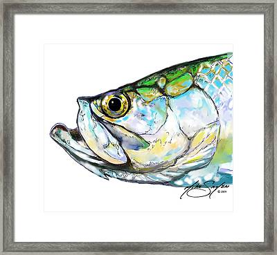 Tarpon Portrait Framed Print by Savlen Art