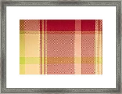 Tartan Cloth Framed Print by Tom Gowanlock