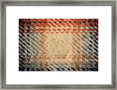 Tartan Detail Framed Print by Tom Gowanlock