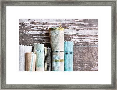 Tartan Fabrics Framed Print by Tom Gowanlock