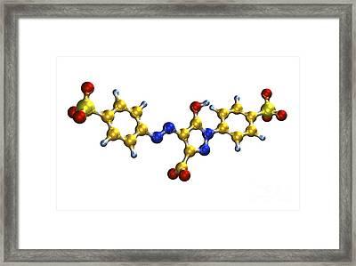 Tartrazine Food Coloring Molecule Framed Print by Dr. Mark J. Winter