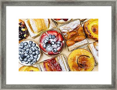 Tarts And Pastries Framed Print by Elena Elisseeva