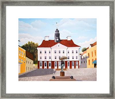 Tartu Town Square         Framed Print by Misuk Jenkins