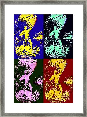 Tarzan Goes Pop Framed Print by John Malone