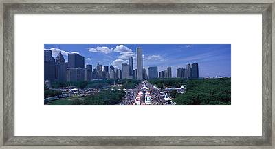 Taste Of Chicago Chicago Il Framed Print by Panoramic Images