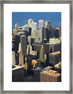 Taste Of Chicago From Above Framed Print by Christine Till