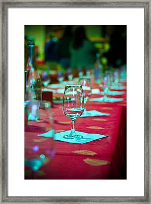 Tasting In Red Framed Print by Kent Nancollas