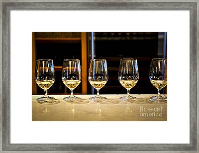 Tasting Wine Framed Print by Elena Elisseeva