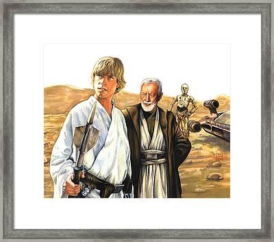 Tatooine Massacre Framed Print by Edward Draganski