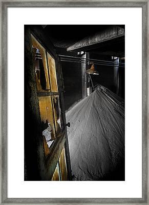Tattered Door Framed Print by Donald Schwartz