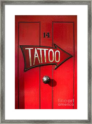 Tattoo Door Framed Print by Tim Gainey