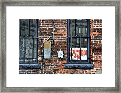 Tattoos Framed Print by Frozen in Time Fine Art Photography