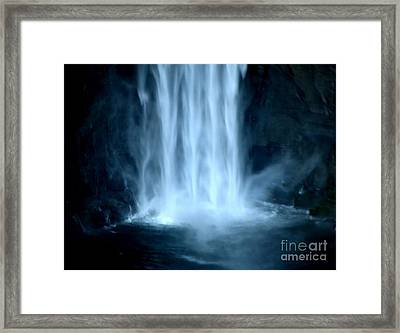 Taughannock Falls Closeup  Framed Print by Rose Santuci-Sofranko