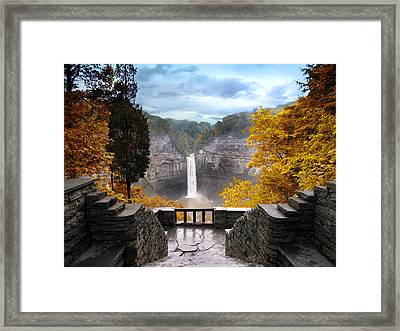 Taughannock In Autumn Framed Print by Jessica Jenney
