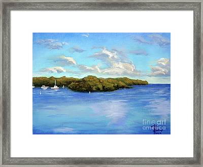 Tavernier Bay Framed Print by Santiago Perez