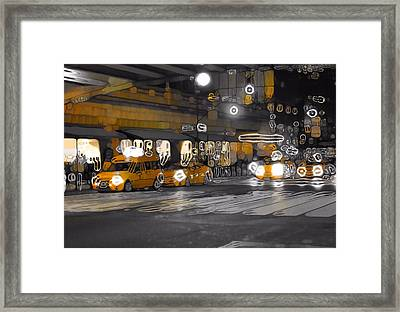 Taxi Cab Abstract Framed Print by Dan Sproul