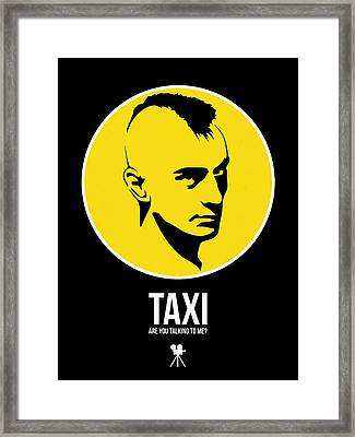 Taxi Poster 2 Framed Print by Naxart Studio