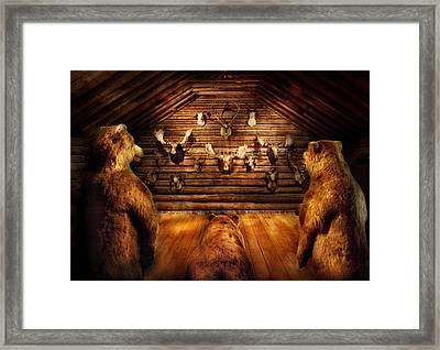 Taxidermy - Home Of The Three Bears Framed Print by Mike Savad