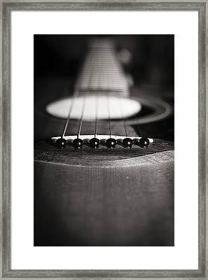 Taylor Guitar Framed Print by Kelly Gibson