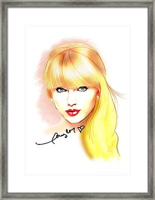Taylor Swift Framed Print by Dave Bear Atienza